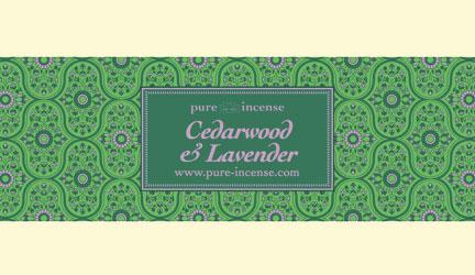 Cederhout en lavendel - mooie, lieflijke, opwekkende mix.